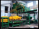 Drum type fiber collection machine